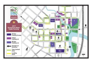 Downtown Napa Parking Map Napa Humane